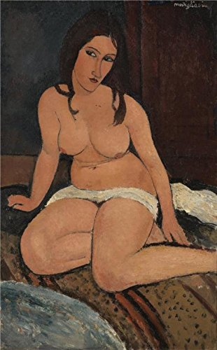 The High Quality Polyster Canvas Of Oil Painting 'Seated Nude, 1917 By Amedeo Modigliani' ,size: 24x39 Inch / 61x98 Cm ,this Amazing Art Decorative Prints On Canvas Is Fit For Kids Room Decoration And Home Decoration And Gifts