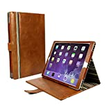Personalised Alston Craig Vintage Genuine Leather Slim-Stand Case Cover for Apple iPad Pro 9.7 / iPad Air 2 (Sleep Function) - Brown