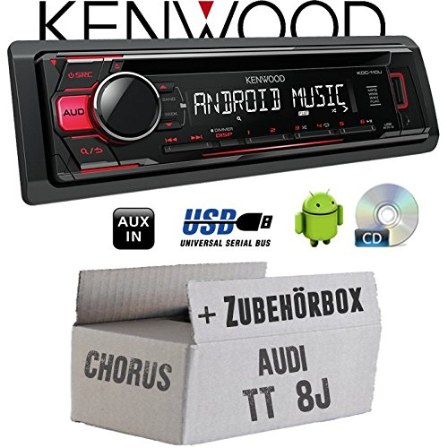 Einbauset f/ür Audi TT 8J Chorus Autoradio CD//MP3//USB Android-Steuerung Kenwood KDC-110UR JUST SOUND best choice for caraudio