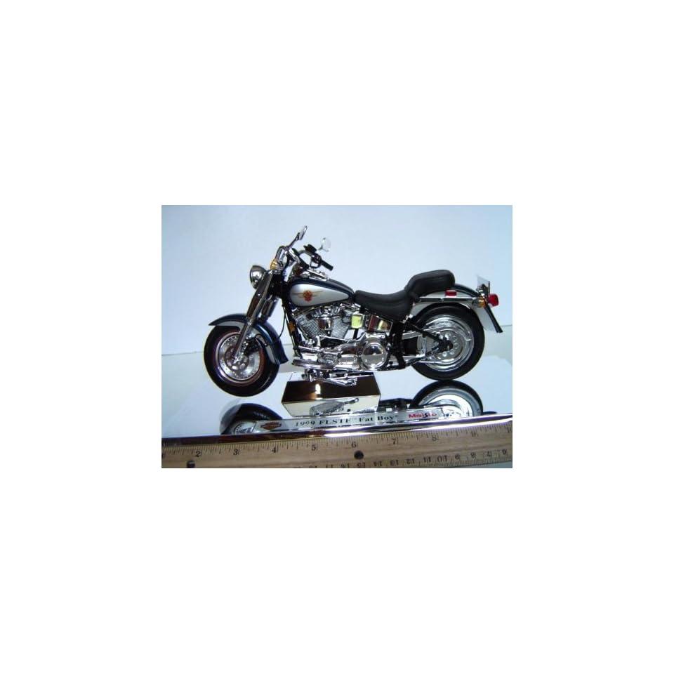 110 Harley Davidson Motorcycle 1999 FLSTF Fat Boy Turquoise