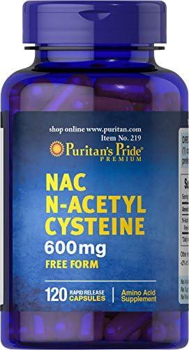 Puritan s Pride N-Acetyl Cysteine NAC 600 mg, 120 Capsules