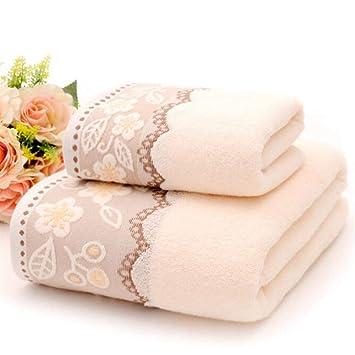 Kininder Home - Juego de Toallas de baño Bordadas de algodón, 3 Piezas, Secado rápido: Amazon.es: Hogar