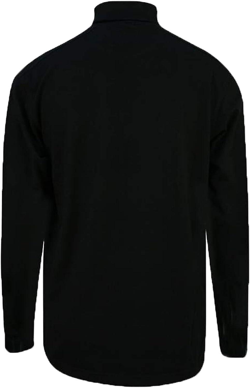 BLACK MENS POLO ROLL NECK TOP HEAVY COTTON S,M,L,XL,XXL,3XL,4XL,5XL