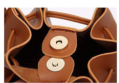 Borsa Cimic nappa in con marrone a firmata frange tracolla donna pelle leggera per 8qg8r
