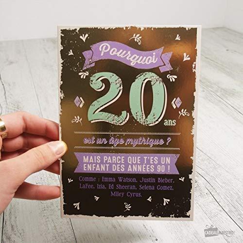 Tarjeta 20 años - regalo Maestro: Amazon.es: Hogar
