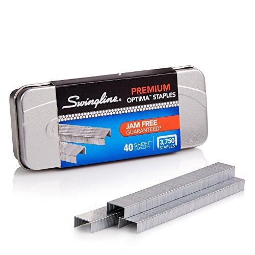 "Swingline Staples, Optima, Premium, 1/4"" Length, Jam Free, 210/Strip, 3750/Box, 1 Box (35556)"