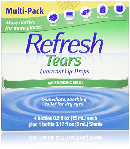 Refresh Tears Lubricant Eye Drops (4 x .5 fl oz and 1 x .17 fl oz. bottles) ()