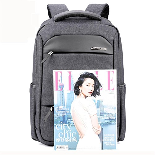 Nylon Rucksack Grey Waterproof inch Casual Backpack 18 Laptop Business qwUIt