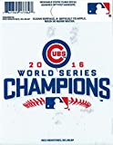 Chicago Cubs 2016 World Series Champions Decal Static Cling 13190