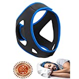 Anti-Snoring Chin Strap & Jaw Support Belt - Natural Sleep,Instant Relief - Adjustable Velcro - Non-Sliding Off - Comfortable,Breathable,Flexible Fabric - Stop Snoring CAPA Headband For Men & Women
