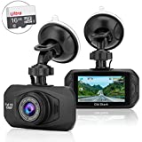 Dash Camera for Cars, Full HD 1080P Dash Cam with Sony Sensor, 170 Wide Angle Car Dashboard Vehicle Videos Driving Recorder with Night Vision, G-Sensor, WDR, Loop Recording