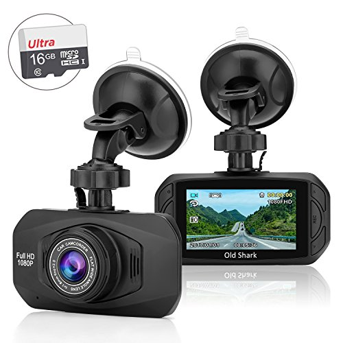 """G11 Car Dash Cam, Full HD 1080P 170° Wide Angle Dashboard Camera Recorder with Sony Sensor HD Night Vision 2.7"""" LCD Parking Monitor with 16GB Card"""