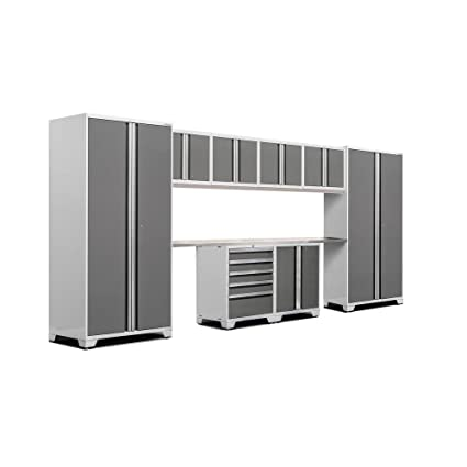 NewAge Products 52454 Pro 3.0 Stainless Steel Top Garage Cabinets Set (10  Piece),