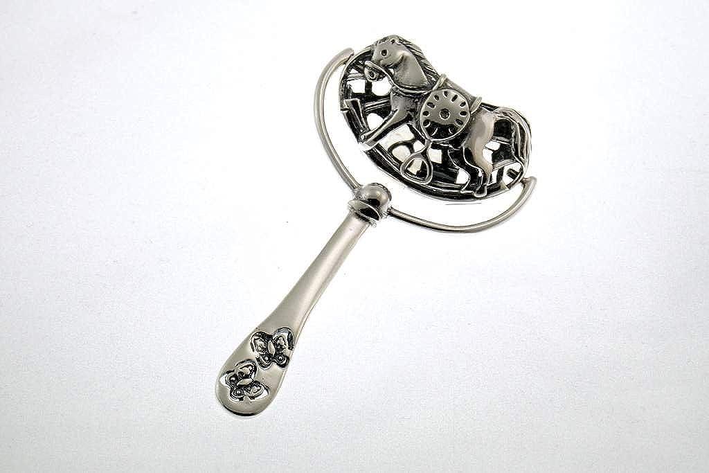 campana cascabel para ni/ños plata de ley 925 Sonajero para beb/és 16,5/gramos patentado regalo de nacimiento o bautizo