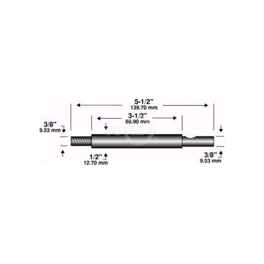 Edger Shaft 5-1/2''X3/8''X 3/8''
