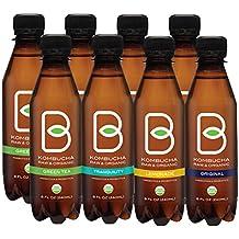 B-tea Kombucha Raw Organic Tea, Only 2g of Sugar, Probiotics and Prebiotic, Promotes Healthy Weight Loss, Kosher, 8 oz, 8 Count