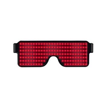 Gafas de sol multiusos para fiestas, con luz LED y pantalla ...