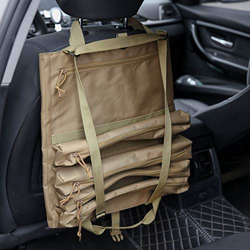 Wrench Roll Up Pouch Tools Organizer Bag Super Storage with 23 pockets (Tan) by Garry Tactical (Image #6)