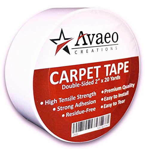 avaeo-creations-double-sided-tape-for-carpet-rug-heavy-duty-adhesive-indoor-outdoor-white-2-x-20-yar