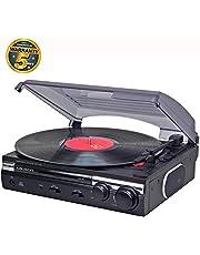 Lauson CL145 Platine Vinyle USB | Convertisseur Vinyle à MP3 | 33/45 RPM | Tourne-Disque avec Haut-Parleurs Intégrés. (Noir)