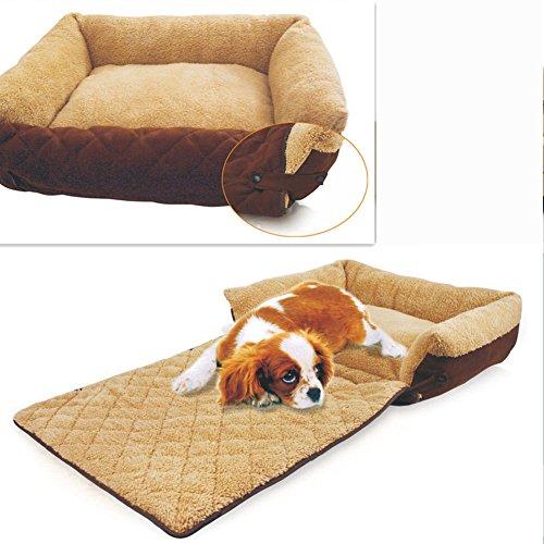 Casa para mascotas cómoda y suave Cama para perros de Gato para descansar dormir jugar,puede desmontar(Para mascota media y paqueña)