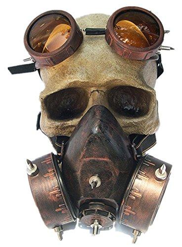 Qiu ping Men's and women's fashion Halloween steampunk windshield gas ()