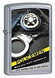 Zippo Street Chrom Police Badge handcuffs Lighter (Silver, 5 1/2 x 3 1/2-Cm)