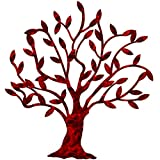 7055 Inc Artisan Dream Tree Metal Wall Art, Candy Red