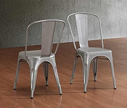 amazon com tabouret stackable bistro steel side chairs set of 2