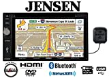 Jensen VX7022 In Dash Double Din Navigation GPS w/ 6.2'' Display, Built in Bluetooth and SiriusXM Tuner with Antenna along with a FREE SOTS Air Freshener