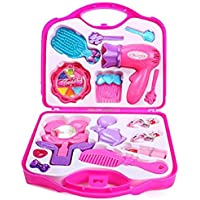 Kanchan Enterprises Barbie Makeup Kit for Kids (Pink, Medium)
