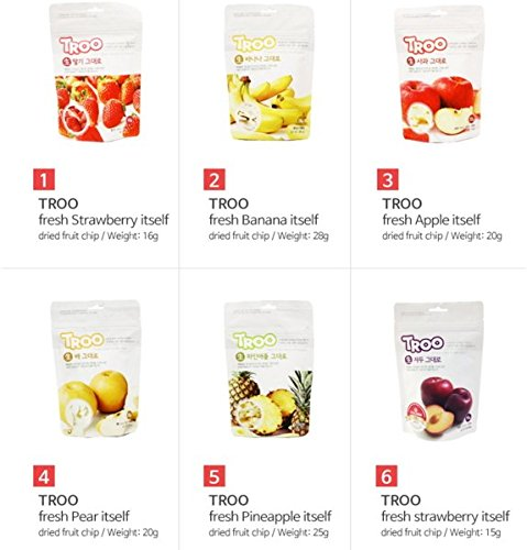 Freeze Dried Pear Chips(21 gr/pack x 5 packs) by Troo (Image #4)