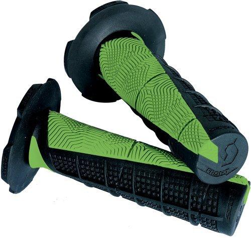 Scott Sports 217892-1043 Black/Green Duece ATV Grips by Scott Sports by Scott Sports (Image #1)