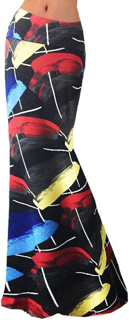 Faldas Largas De Verano Mujer Casual Cintura Alta Faldas De Flores ...