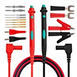 Micsoa Electronic Test Leads Kit, Digital Multimeter Leads with Alligator Clips Replaceable Multimeter Probes Tips Set of 16