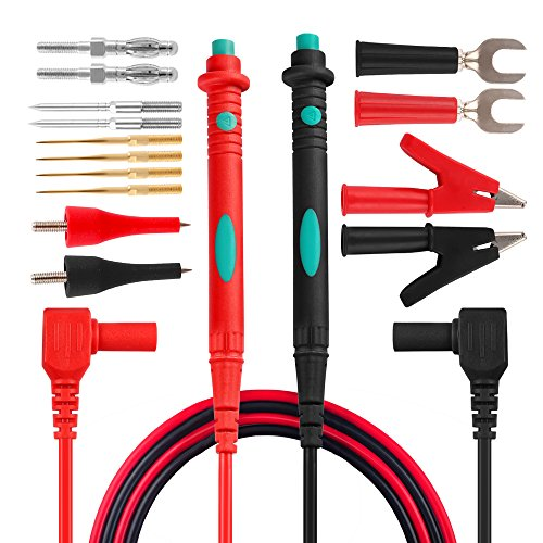 Test Probe Set - Micsoa Electronic Test Leads Kit, Digital Multimeter Leads with Alligator Clips Replaceable Multimeter Probes Tips Set of 16
