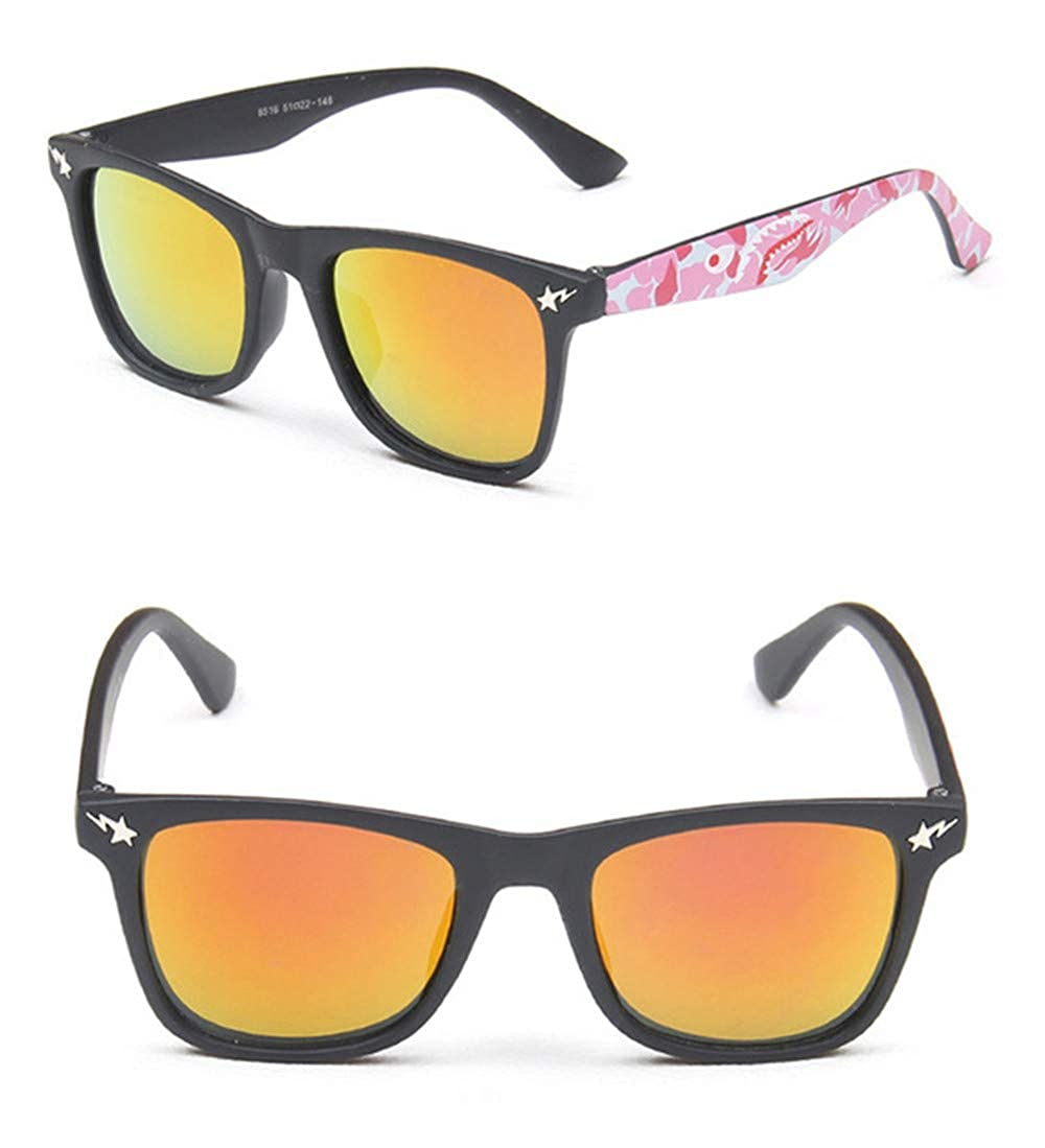 Wang-RX Moda para niños Gafas de sol Marco negro Color Uv400 ...