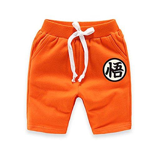 Dragon Ball Z Baby Kids Fifth Pants Cotton Shorts Trousers (XL, Orange)