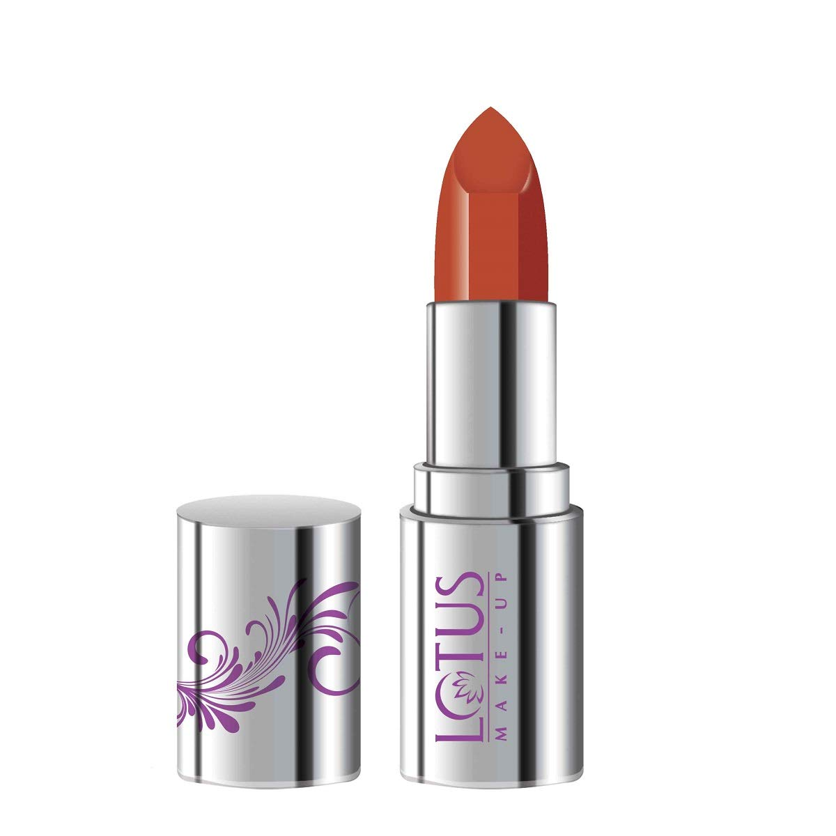 Lotus Makeup Ecostay Butter Matte Lip Color Coral Vogaye, Red, 4 g