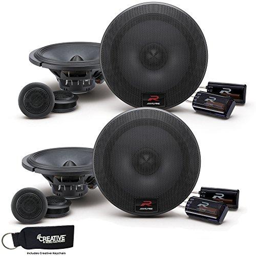 Alpine R-S65C Bundle - Two pairs of Alpine R-S65C 6.5 Inch Component 2-Way Speakers