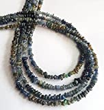 IOLITE chips gemstone , 2.5 - 6.5 mm size uncut , 18 inch strand approx