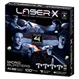 .LASER X. Micro Blasters Real Life Gaming Experience 4-Player Set, Includes 4 Micro
