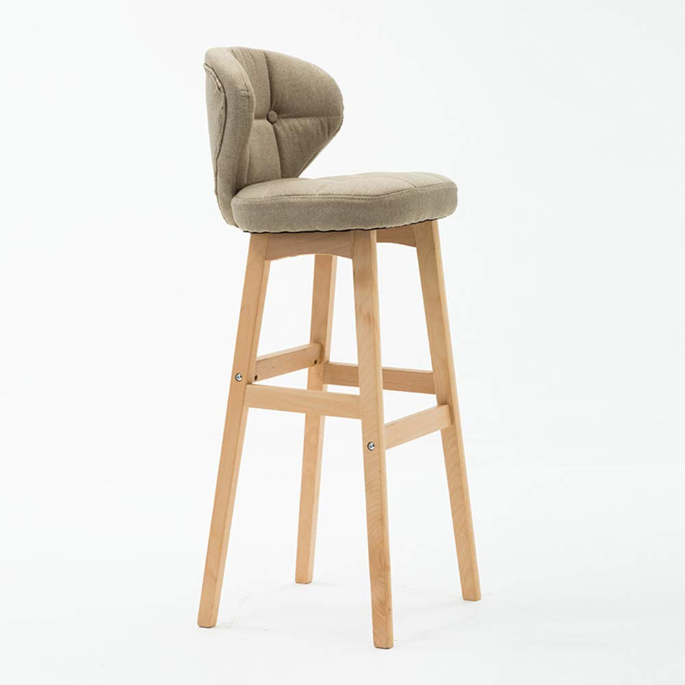 6 434078cm Bar Chair, Kitchen Breakfast Chair Wooden Leg Cafe Simple Modern(43  40  78cm) HPLL (color   1, Size   43  40  78cm)