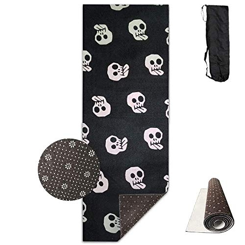 wenhuamucai Halloween.jpg Yoga Mat - Advanced Yoga Mat - Non-Slip Lining - Easy to Clean - Latex-Free - Lightweight and Durable - Long 180 Width 61cm]()