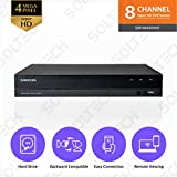 Samsung Wisenet SDR-B84300N1T 8 Channel SuperHD 4MP Security DVR with 1TB Hard Drive