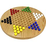 Oak Chinese Checkers - Made in USA