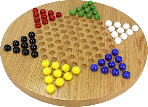 Oak Chinese Checkers - Made in - Table Chess Oak