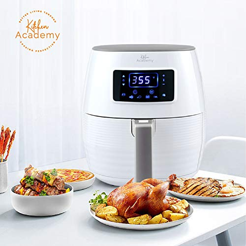 Kitchen Academy 5.8QT Digital Oil Free Air Fryer, White