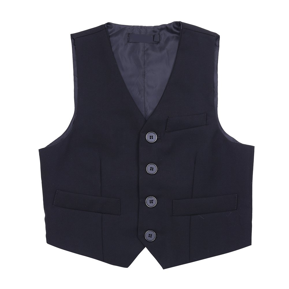 ACSUSS Kids Baby Boys Wedding Pageant 3//4 Buttons Formal Suit Vest Waistcoat