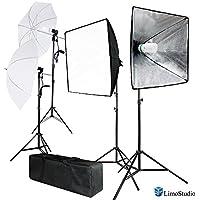LimoStudio 700W Photo Softbox Lighting Kit, Studio Light Diffuser Reflector 24 x 24 Inch, Photo Equipment Carry Bag, Photography Studio, AGG2138